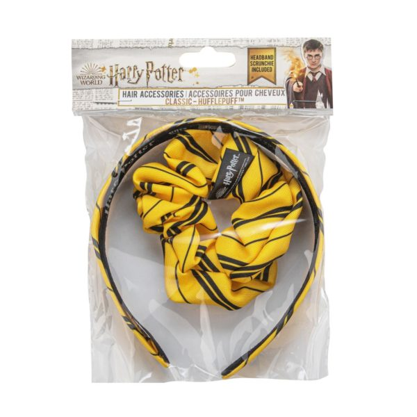 Harry Potter diadem och scrunchy Hufflepuff