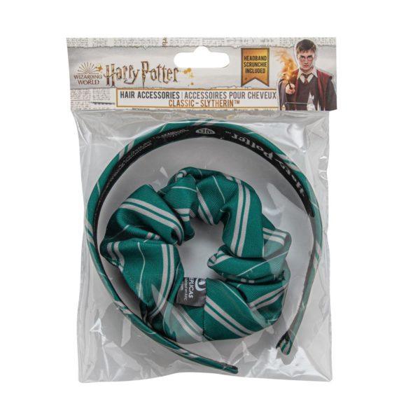 Harry Potter diadem och scrunchy Slytherin