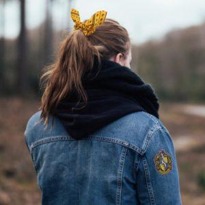 Harry Potter hårband, scrunchy och hårspänne Hufflepuff