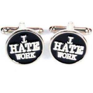 Manschettknappar 2-pack - I Hate Work