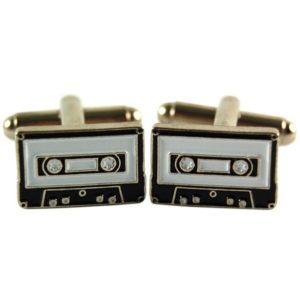 Manschettknappar 2-pack - Retro Cassette Tape / Kassettband