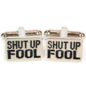 Manschettknappar 2-pack - Shut Up Fool (A-Team)