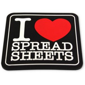 Underlägg 2-pack Retro - I Love Spreadsheets