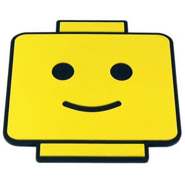 Underlägg 2-pack Retro - Brick Man Face