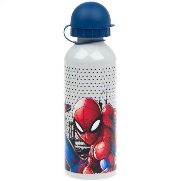 Spiderman vit flaska av aluminium 500ml Marvel