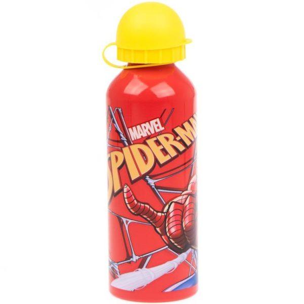 Spiderman rödgul flaska av aluminium 500ml Marvel