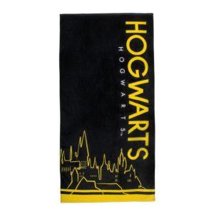 Harry Potter Svart Badhandduk Hogwarts
