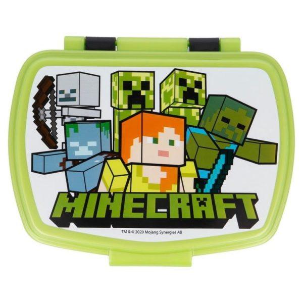 Minecraft figurer matlåda BPA fri Minecraft