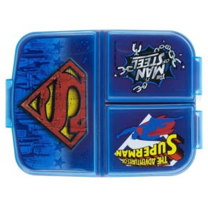 "Superman ""The man of steel"" matlåda med 3 fack BPA fri DC Comics"