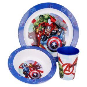 Avengers 3-set skål, tallrik och mugg Marvel