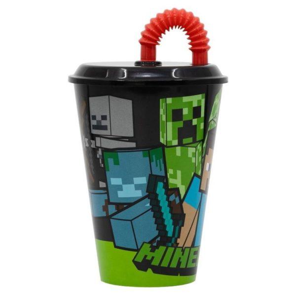 Minecraft mugg med sugrör Minecraft