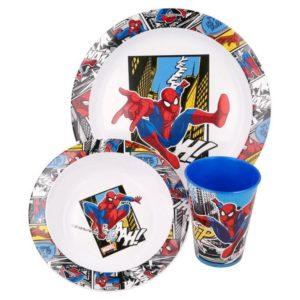 Spiderman 3-set skål, tallrik och mugg Marvel