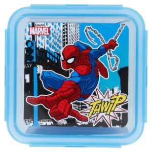 """Spiderman """"Thwip"""" låda med luft- och vattentät förslutning 730ml BPA fri Marvel"""