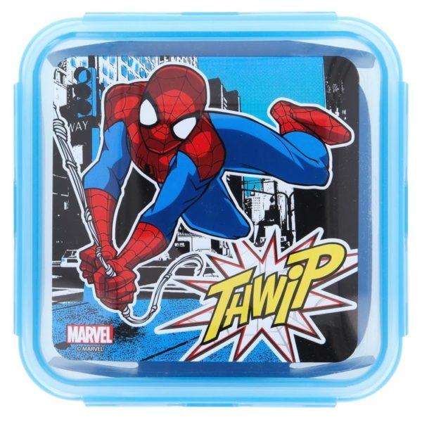 """Spiderman """"Thwip"""" låda med luft- och vattentät förslutning 750ml BPA fri Marvel"""