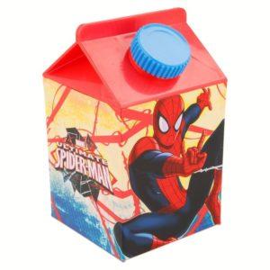 Ultimate Spiderman flaska formad som ett mjölkpaket 460ml Marvel