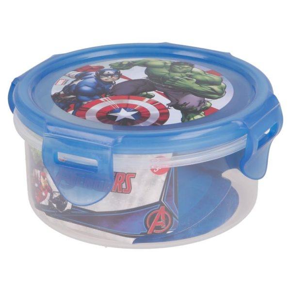 Avengers rund låda med luft- och vattentät förslutning BPA fri Marvel