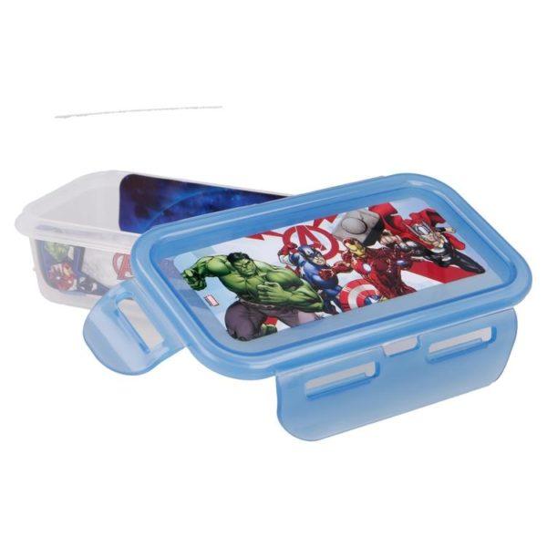 Avengers rektangulär låda med luft- och vattentät förslutning 250ml BPA fri Marvel