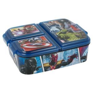 Avengers paneler matlåda med 3 fack BPA fri Marvel