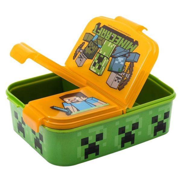 Minecraft figurer matlåda med 3 fack BPA fri Minecraft