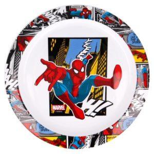 "Spiderman ""Yeah"" tallrik BPA fri Marvel"