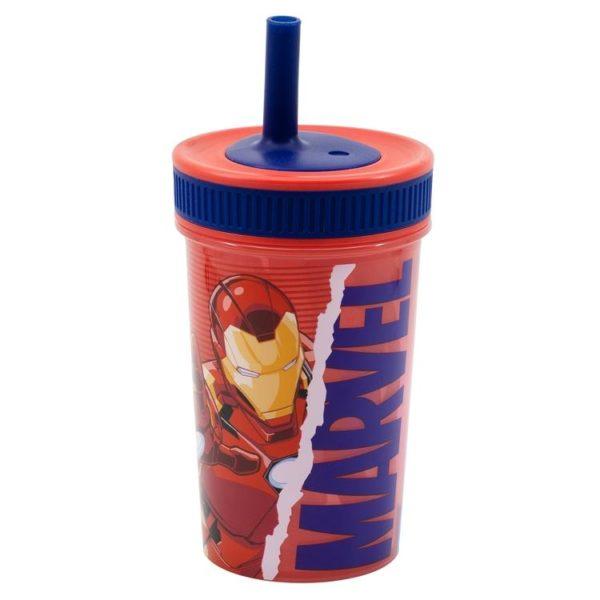 Avengers mugg med silikonsugrör 370ml Marvel