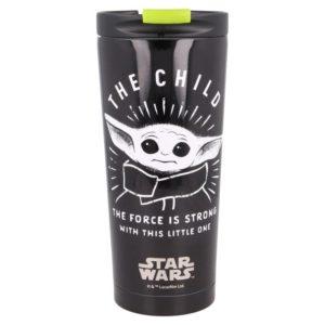 """""""The Child"""" svart termosmugg av rostfritt stål Mandalorian"""