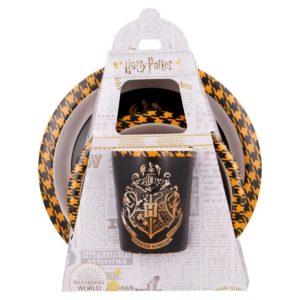 Harry Potter 3-set skål, tallrik och mugg Hogwarts