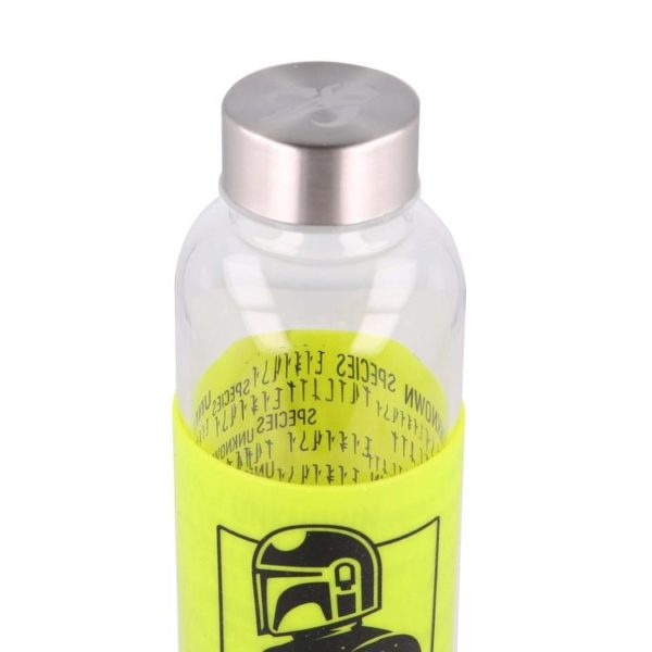 "Mandalorian och ""The Child"" flaska med silikonhölje 585ml BPA fri Mandalorian"