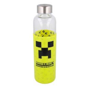 Minecraft Creeper flaska med silikonhölje 585ml BPA fri Minecraft