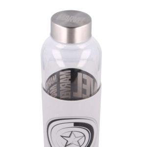 Captain America flaska med silikonhölje 585ml BPA fri Marvel