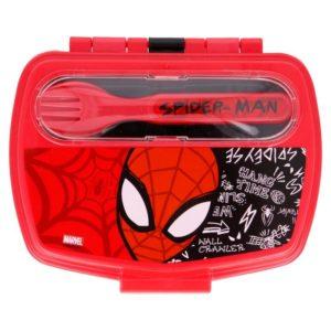 Spiderman matlåda med bestick 800ml BPA fri Marvel