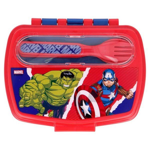 Avengers matlåda med bestick 800ml BPA fri Marvel