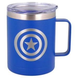 Captain America blå termosmugg av rostfritt stål 380ml Marvel