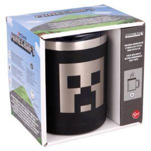Creeper svart termosmugg av rostfritt stål 380ml Minecraft
