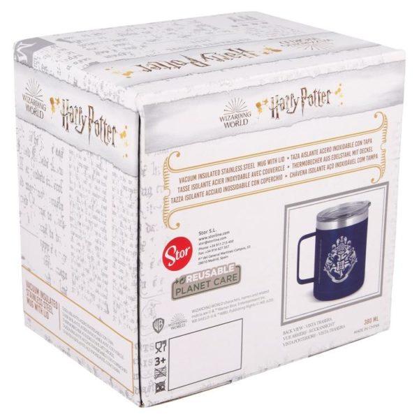 Harry Potter blå termosmugg av rostfritt stål 380ml Hogwarts