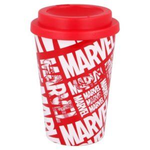 Avengers röd och vit mugg 390ml BPA fri Marvel