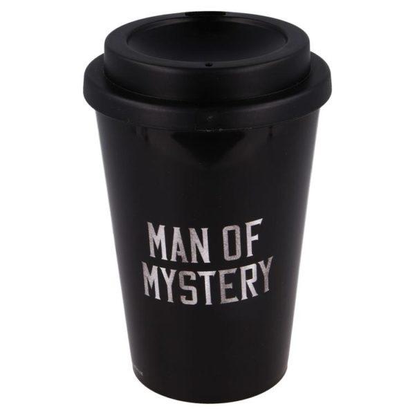 """Mandalorian """"Man of mystery"""" svart mugg 390ml BPA fri Mandalorian"""