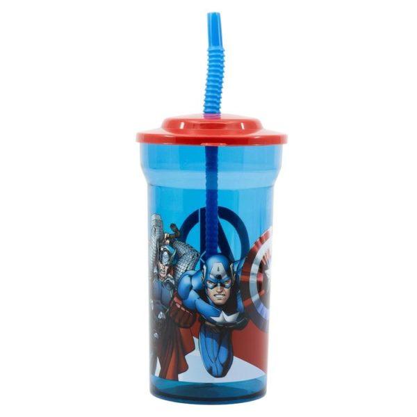 Avengers mugg med sugrör 460ml Marvel