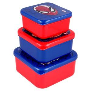 Spiderman lådor 3-pack BPA fria Marvel