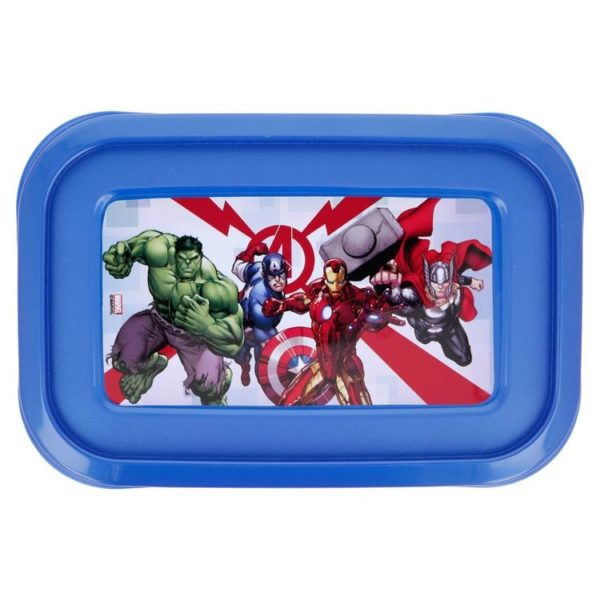 Avengers rektangulära lådor 3-pack BPA fria Marvel