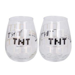 TNT 2 set dricksglas 510ml Minecraft