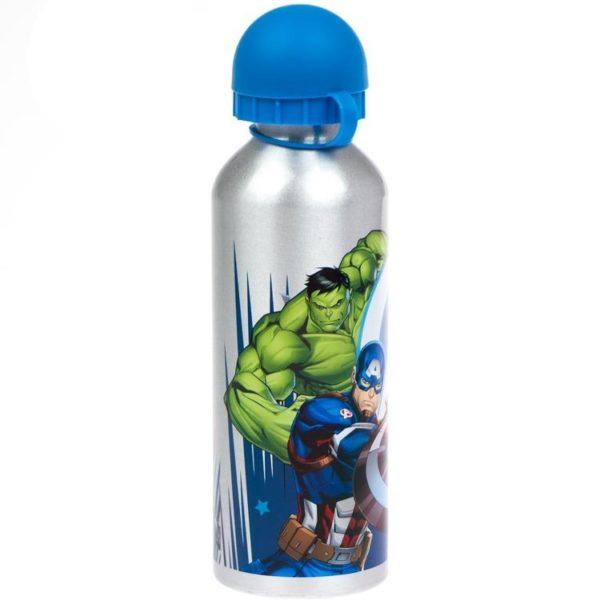 Avengers silver flaska av aluminium 500ml Marvel