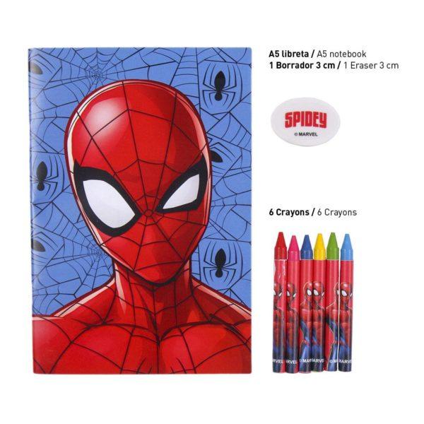 Spiderman Block- och Pennset Marvel