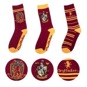 Gryffindor Strumpor (3-pack) Harry Potter