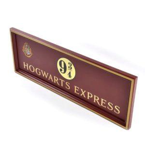 Hogwarts Express Plattform 9 3/4 Väggskylt Harry Potter