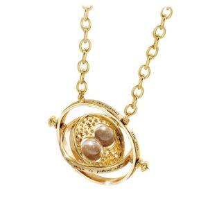 Tidvändare (Time Turner) Smycke/Halsband (24k Guldpläterad) Harry Potter